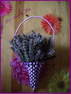 tuto_5_panier *** lépésről lépésre *** Lavender Wands, Lavender Decor, Lavender Crafts, Lavender Wreath, Lavender Garden, Lavender Sachets, Lavender Flowers, Dried Flowers, Lavander
