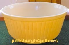 Pyrex - Primary Yellow - Souffle / Ramkin Casserole Dish - Has Pyrex Marking But…