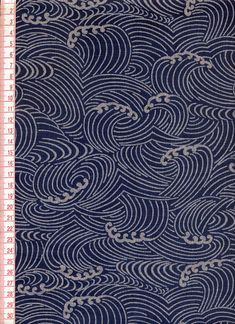TOKOUAN: Morley cross cotton hand textile printing wave - Purchase now to accumulate reedemable points! Japanese Textiles, Japanese Patterns, Japanese Fabric, Japanese Prints, Japanese Design, Japanese Art, Japanese Style, China Patterns, Textile Patterns
