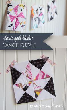 Classic Blocks: The Yankee Puzzle | SewCanShe