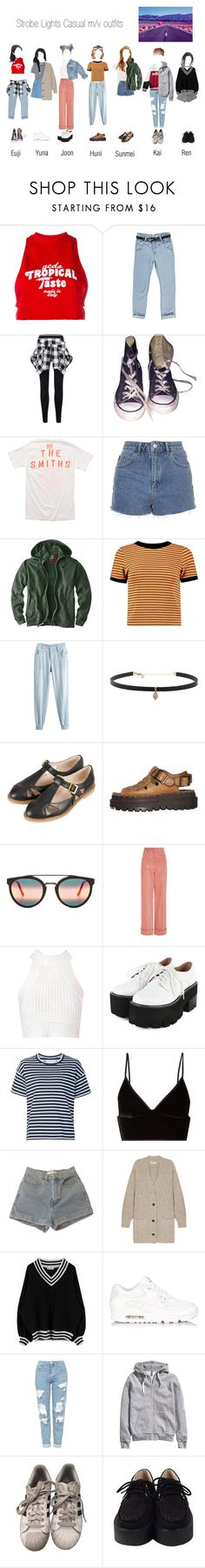 """""""Strobe Lights // Casual mv"""" by official-angel ❤ liked on Polyvore featuring GCDS, Boohoo, Converse, Opening Ceremony, Topshop, Woolrich, Chicnova Fashion, Carbon & Hyde, Skechers and RetroSuperFuture"""