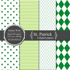 KatiesWish: St. Patricks free digital paper kit