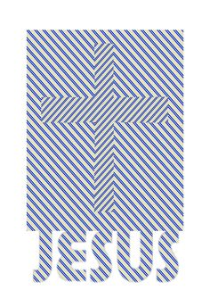 JESUS Cross optical illusion (white and blue) Jesus Optical Illusion, Optical Illusions, Jesus On The Cross, Craft Ideas, Christian, Quilts, Artist, Crafts, Blue