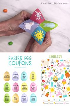 Celebrate the Easter season and bring the family together with these fun printable Easter activities for kids. You'll get everything you'll ever need including Easter bingo, egg coupons, bunny headbands, I Spy & more! Bingo For Kids, Easter Activities For Kids, Printable Activities For Kids, Kits For Kids, Printable Crafts, Crafts For Kids, Easter Placemats, Easter Bingo, Easter Art