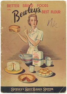 I just listed: Better Bread Foods Cookbook with Bewley's Best Flour, 1930's, via…