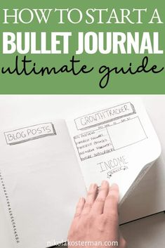 How to start a Bullet Journal - Bullet journals are everywhere and maybe you have started to obsess. Scrolling through the gorgeous photos on Pinterest and instagram, wondering if you could do it too but you are still little confused. What is a bullet journal and how do YOU get started? Bullet Journal First Page, Bullet Journal For Beginners, Bullet Journal Monthly Spread, Bullet Journal How To Start A, Bullet Journal Layout, Bullet Journal Inspiration, Bullet Journals, Journal Themes, Journal Pages