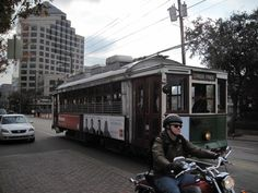 The Green Dragon lumbering down McKinney Avenue - The historic M-Line trolley -  Dallas