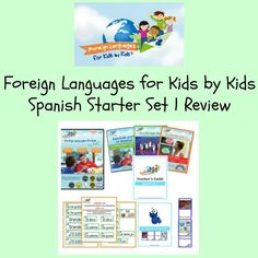 Carter Chaos sponsored review of Foreign Languages for Kids by Kids Spanish Starter Set 1. #homeschoolspanish #hsreviews