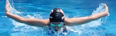 8-year-old Monica Botha swimming the 25-meter butterfly at the 2015 Seagulls short course winter championships