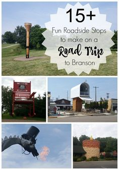 15+ fun roadside stops to make on a road trip to Branson, Missouri from Ohio. Roadside Attractions, Branson Attractions, Fun Travel, Travel Ideas, Travel With Kids, Travel Usa, Travel Inspiration, Travel Tips, Vacation Ideas