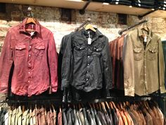 The Jean Shop leather shirts