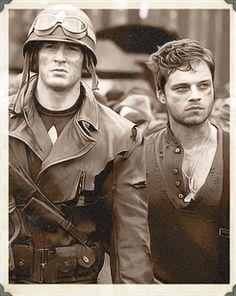 Captain America and Bucky!