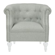 Jennifer Taylor 80000-102 Tufted Roll Arm Chair | ATG Stores