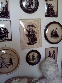 vintage silhouettes.  My grandmother had some of these on a side kitchen cupboard (at least they're the ones i remember).