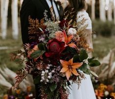 inspired elopement/wedding in the beautiful aspen trees in Flagstaff. Fall/Autumn inspired elopement/wedding in the beautiful aspen trees in Flagstaff. Fall/Autumn inspired elopement/wedding in the beautiful aspen trees in Flagstaff. Bridal Bouquet Fall, Fall Wedding Bouquets, Fall Wedding Flowers, Fall Wedding Decorations, Fall Wedding Colors, Wedding Flower Arrangements, Bride Bouquets, Floral Wedding, Flower Bouquets