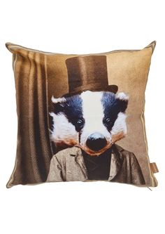 Our Graduate Collection Badger Cushion designed by Charlotte Cory will add a…