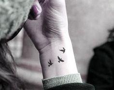 Little swallows birds - InknArt Temporary Tattoo -  wrist quote tattoo body sticker fake tattoo wedding tattoo small tattoo