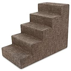 awesome Best Pet Supplies USA Made Pet Steps/Stairs with CertiPUR-US Certified Foam for Dogs & Cats Relieves Stress: Our stairs are the perfect accessory to help pets reach that high bed or couch Available in 3-step, 4-step, and 5-step configurations to easily match your furniture's height. Supports Pet Health: Made with mattress-grade cushioning to relieve pressure on paws and joints. Save T... Pet Beds, Dog Bed, Stairs Covering, Chicken And Brown Rice, Pet Ramp, High Beds, Dog Steps, Dog Food Brands, Dog Blanket