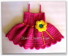 Shocking Pink / Bright Yellow & Teal / por KariesCrochetDesigns