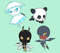 The panda would be mine but I made an oc, it's a dove