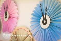 CINDERELLA party decor  Pleated Paper Pinwheel by IDEAeventstyle, $15.00
