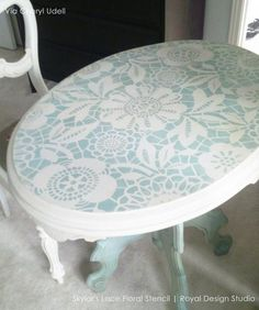 Stenciling floors, ceilings, and walls - the possibilities are endless with designer stencils! Give your wall decor a lace design or flower pattern today!