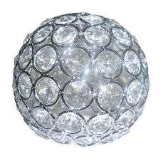 For the light fixture- Shop Portfolio 4-3/4-in Crystal Vanity Light Glass at Lowes.com