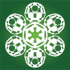 If It's Hip, It's Here: It's Snowing Star Wars Again! 19 New Star Wars DIY Snowflake Templates for 2013. #deathstarsnowflake #starwars