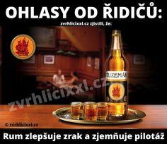 Rum zlepšuje zrak a zjemňuje pilotáž – Zvrhlíci XXL – Bez cenzury Corona Beer, Beer Bottle, Rum, Gifs, Funny, Beer Bottles, Funny Parenting, Rome, Presents