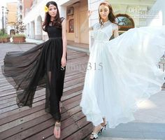Wholesale Casual Dresses - Buy Summer Women Vintage Lace Chiffon Dresses Floor-Length Billowing Maxi Dress BOHO Beach Party Evening Dress, $31.22 | DHgate