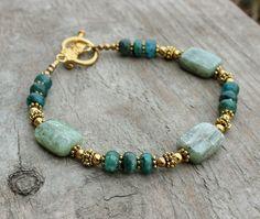 Gemstone Bracelet Blue Bracelet Kyanite Bracelet by InspiredTheory