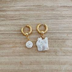 Maple Pearl Hoop Earrings (1)sm Hoop Earrings, Personalized Items, Pearls, Beads, Earrings, Gemstones, Pearl