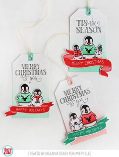Hi everyone! I'm joining with Tracey McNeely's  25 Days of Christmas tags event . Today Avery Elle team was invited to participate and it wa...