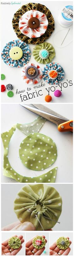 50 Easy Fabric Flowers Tutorial - Make Your Own Fabric Flowers - Page 8 of 10 - DIY & Crafts #YoYo's