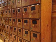 Apothecary Drawers