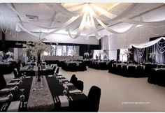 Tables Black Silver Wedding White Weddings Decor Colors