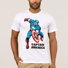 Shop Captain America Shield Slam T-Shirt created by marvelclassics. Personalize it with photos & text or purchase as is! Captain America Comic Books, Captain America Shield, Patriotic Shirts, Cool Shirts, American Apparel, Shirt Style, Colorful Shirts, Avengers, Shirt Designs