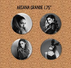 "Ariana Grande - 1.75"" Pinback Buttons"