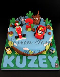 CARS 2 BIRTHDAY CAKE - KUZEY by CAKE BY NESRİN TONG, via Flickr