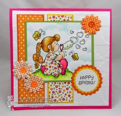 """High Hopes Stamps - """"Happy Spring"""" by Kristine using """"Bubble Love"""" February Challenge, High Hopes, Happy Spring, Love Cards, Bubbles, Challenges, Stamps, Crafts, Manualidades"""