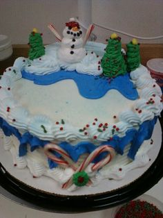 Dairy Queen Christmas cake