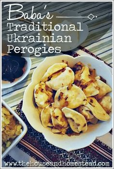 These traditional Ukrainian perogies are made from scratch with simple ingredients and cost just pennies a piece. This perogies recipe makes enough to feed a large family and put some away in the free Ukrainian Perogies Recipe, Ukrainian Recipes, Russian Recipes, Ukrainian Food, Russian Dishes, Ravioli, Perogie Dough Recipe, Polish Pierogi Dough Recipe, Polish Perogies
