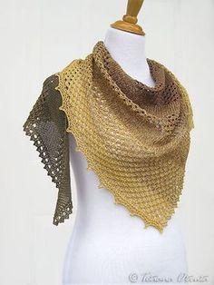 "Bosc Pear pattern by Tetiana Otruta #shawl #FreePattern Perfekt für mein ""Froschkönig"" Garn"