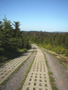 weg naar de top van de Brocken