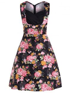 GET $50 NOW | Join RoseGal: Get YOUR $50 NOW!http://www.rosegal.com/vintage-dresses/floral-midi-retro-dress-875301.html?seid=7241694rg875301