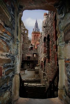 Bishop's Palace in the centre of Kirkwall, Orkney, Scotland~ Photo by...Etched Raindrop©