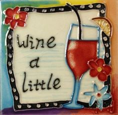 Continental Art Center SD-130 4 by 4-Inch Wine A Little Ceramic Art Tile by Continental Art Center. $12.60. 100-Percent hand made 3-D textures are created by hand pipping process; One of a kind Come with a recyclable gift box. Exclusive designs from well known artists with signature of the artist on each tile. Pre-attached backings can be removed by soaking in water for installation as backsplash or a center piece both indoor and outdoor. Hand painted, glazed, and kil...