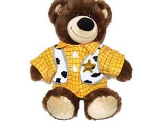 Build A Bear Woody Toy Story Bear Sheriff Costume Outfit Shirt Discontinued
