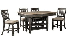 Tyler Creek 5-Piece Counter Height Dining Set | Ashley Furniture HomeStore