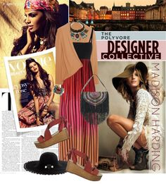 """""""Urban Bohemian with Madison Harding"""" by designsbytraci on Polyvore"""